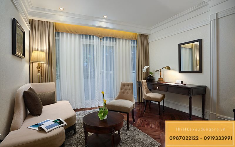giá thi công khách sạn