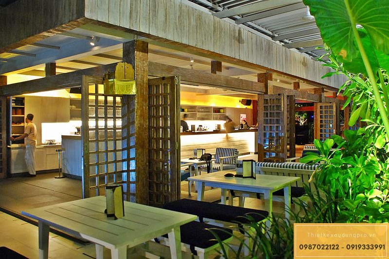 Mẫu thiết kế nhà hàng đồng quê
