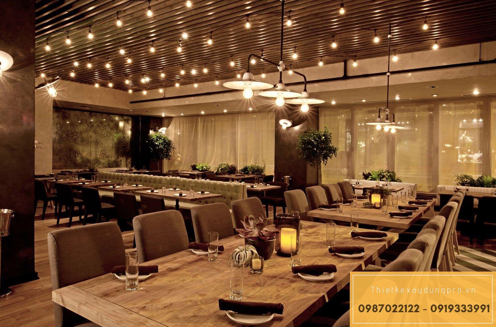 thiết kế nhà hàng tại Bắc giang