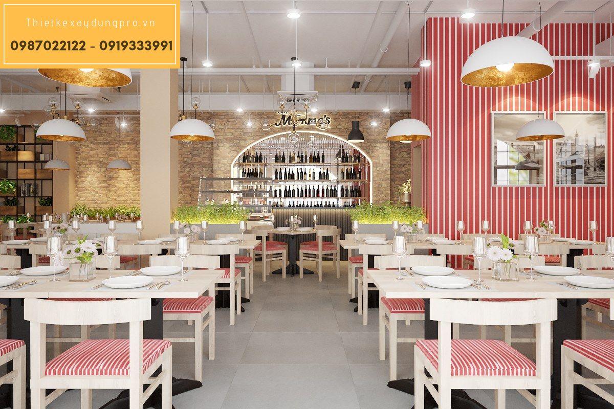 Thiết kế nhà hàng châu Âu
