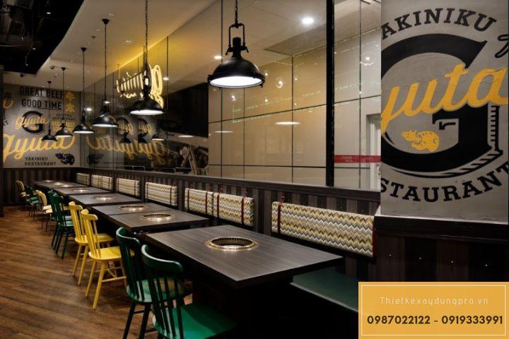 Mẫu thiết kế nhà hàng lẩu nướng tại bắc giangđẹp