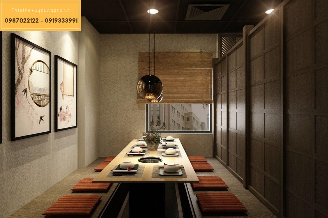 thiết kế nhà hàng kiểu nhật