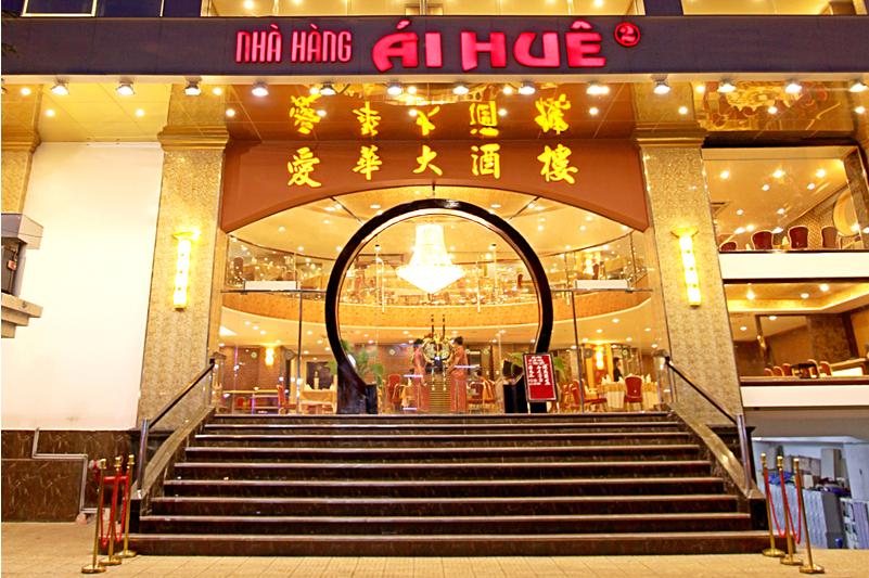 thiết kế nội thất nhà hàng Ái Huê