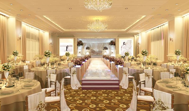 nhà hàng tiệc cưới theo phong cách hiện đại