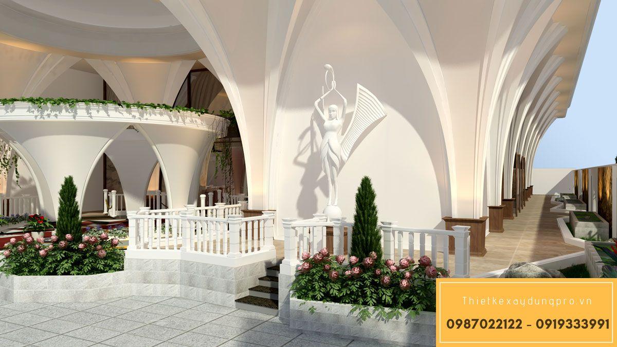 sảnh chính nhà hàng tiệc cưới
