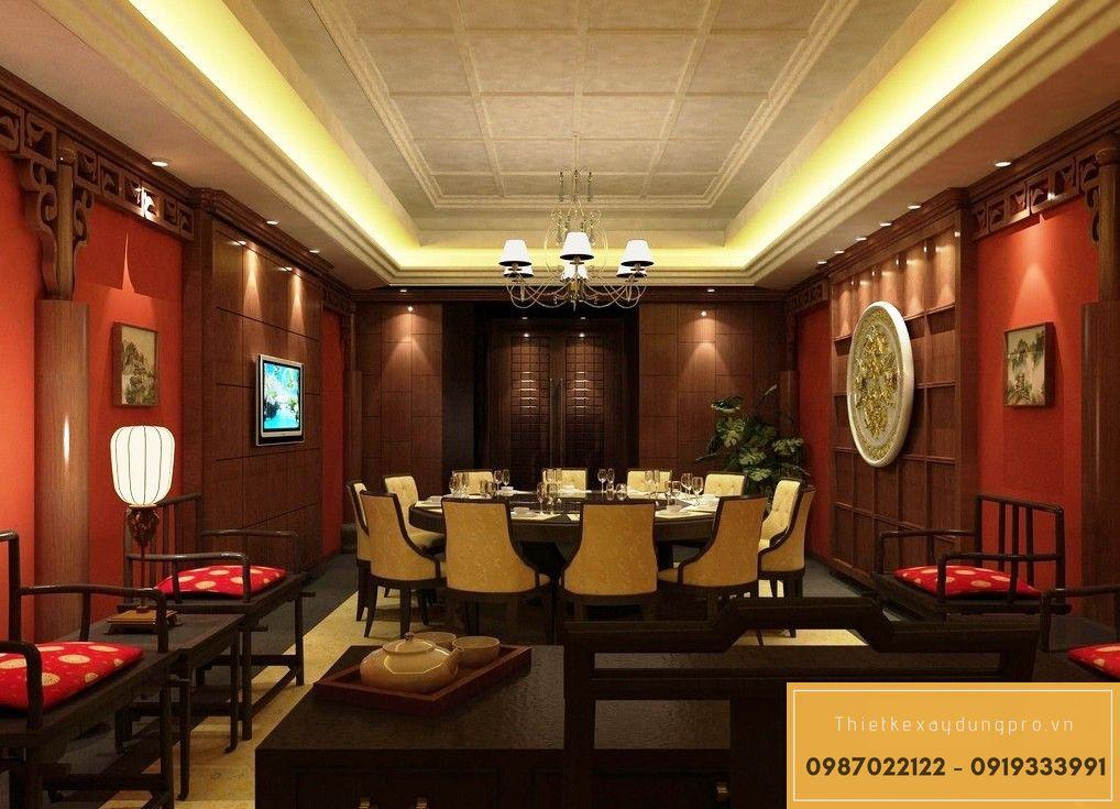 Mẫu thiết kế nhà hàng tại Bắc Ninh