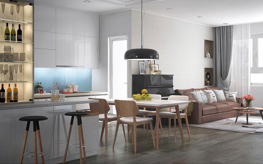 thiết kế nội thất chung cư mandarin garden