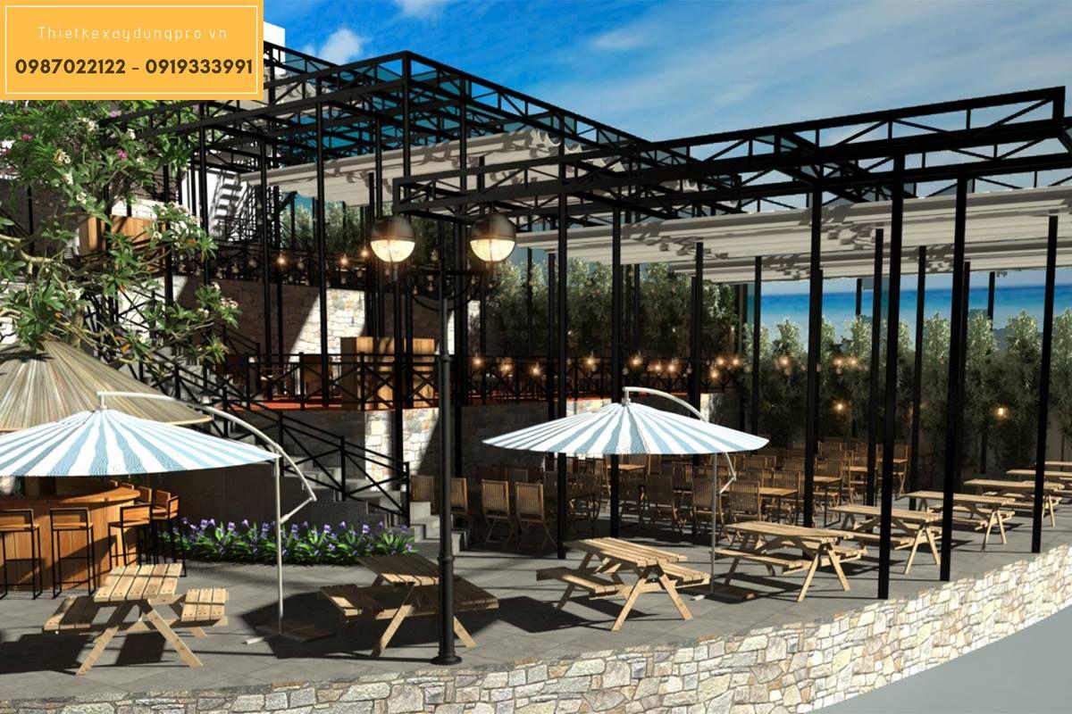 Thiết kế nội thất nhà hàng hải sản