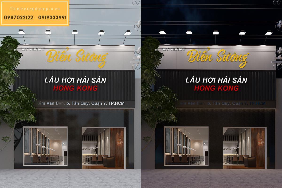 thiết kế nội thất nhà hàng lẩu