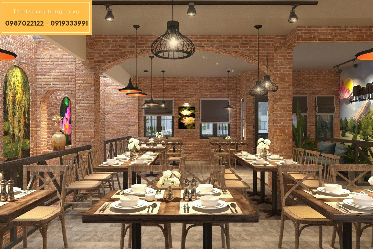 Thiết kế nhà hàng mini