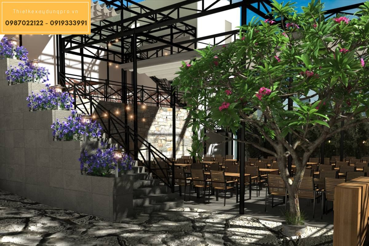 Thiết kế nhà hàng ngoài trời