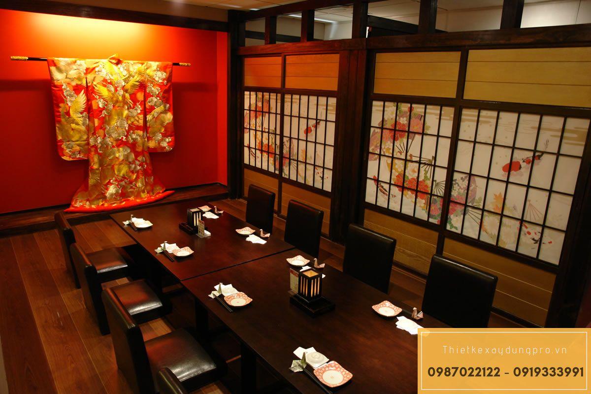 Mẫu thiết kế nhà hàng Nhật Bản đẹp