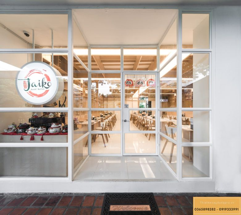 Mẫu thiết kế nội thất nhà hàng Nhật truyền thống - View 1