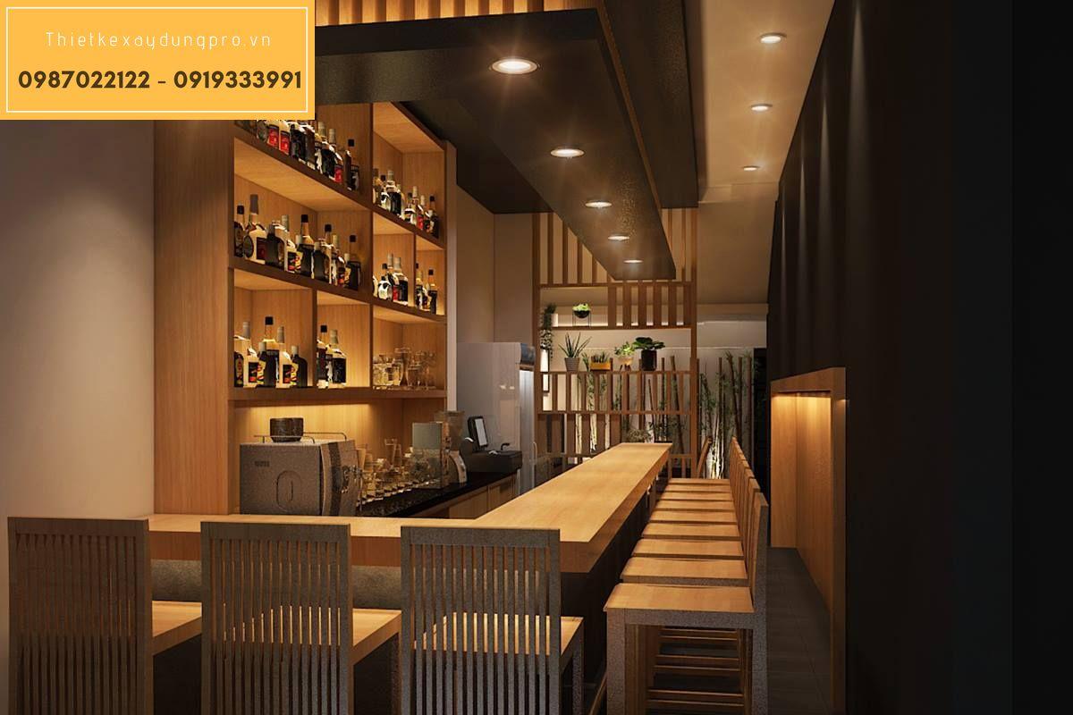 Thiết kế nội thất nhà hàng Nhật