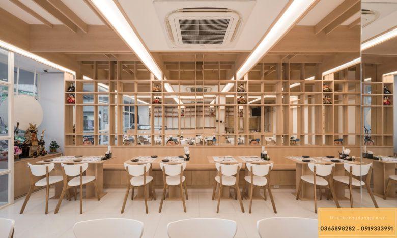 Mẫu thiết kế nội thất nhà hàng Nhật truyền thống - View 2