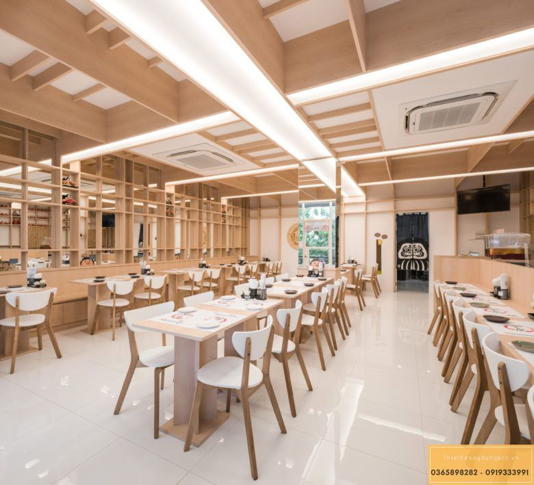 Mẫu thiết kế nội thất nhà hàng Nhật truyền thống - View 3