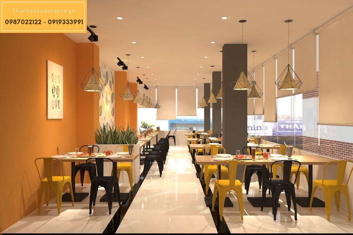 Thiết kế nội thất nhà hàng nhỏ