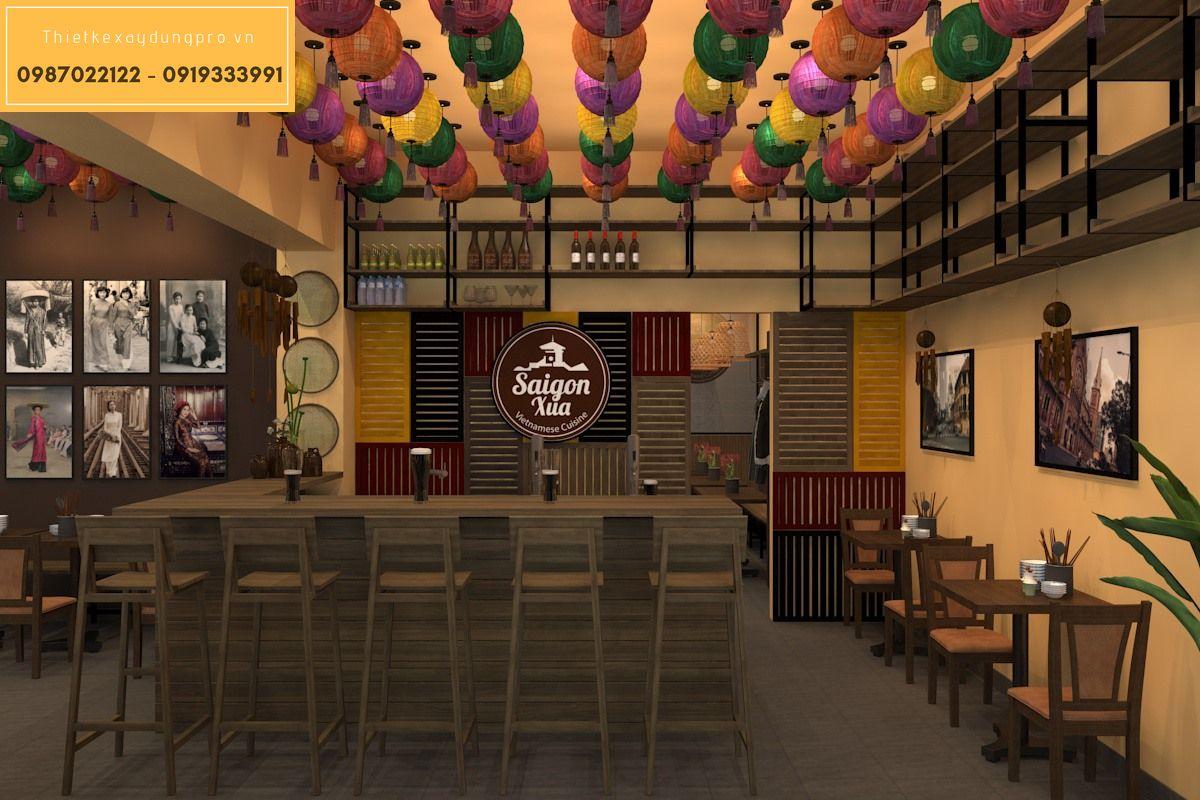 Thiết kế nội thất nhà hàng hợp phong thủy
