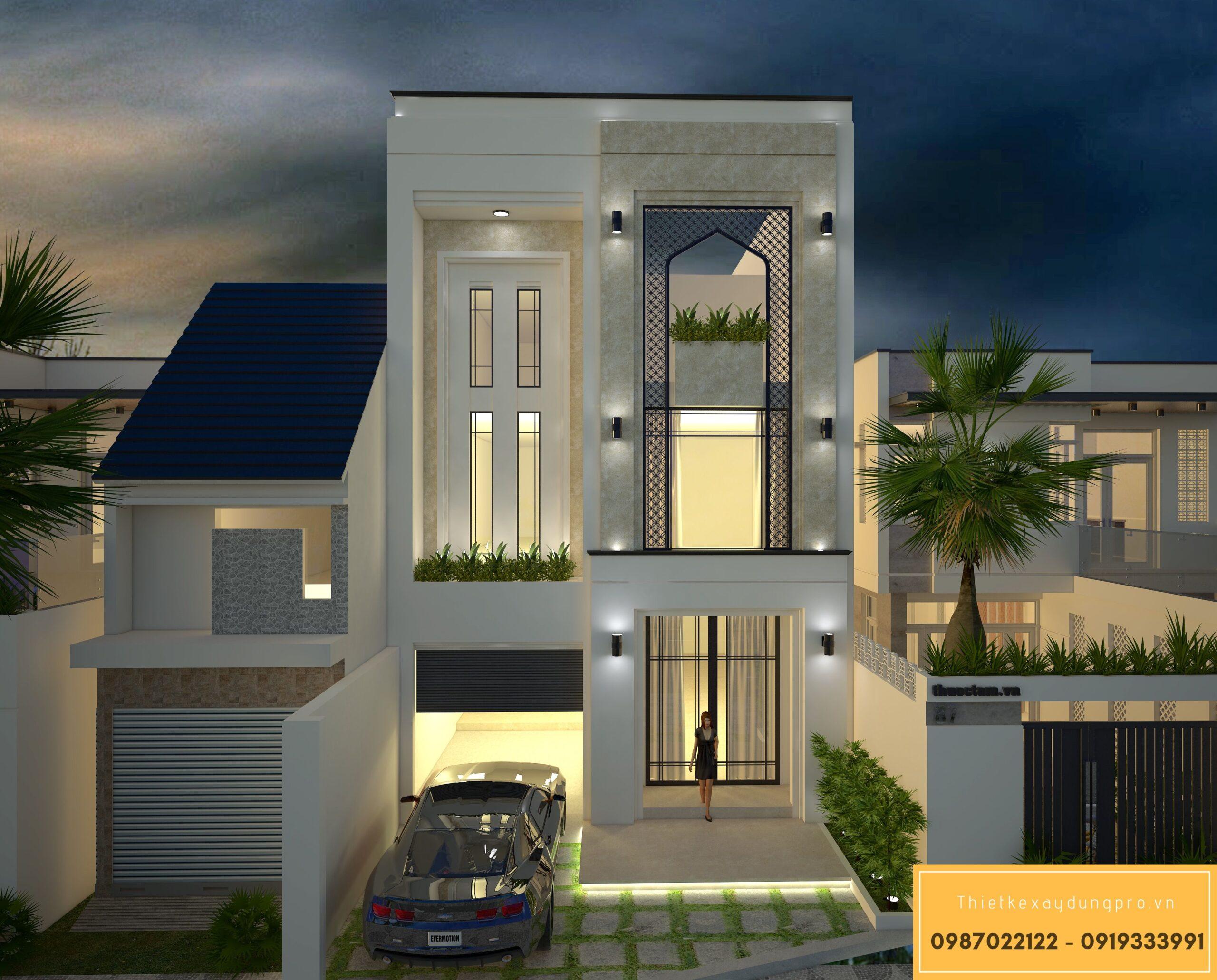 Thiết kế nội thất nhà phố 2 tầng