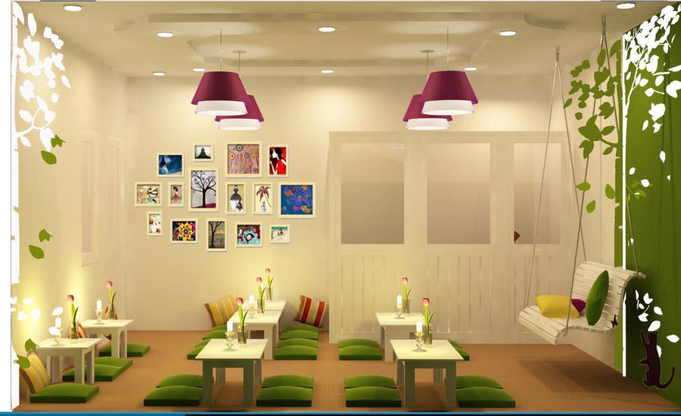 Thiết kế quán cafe ngồi bệt