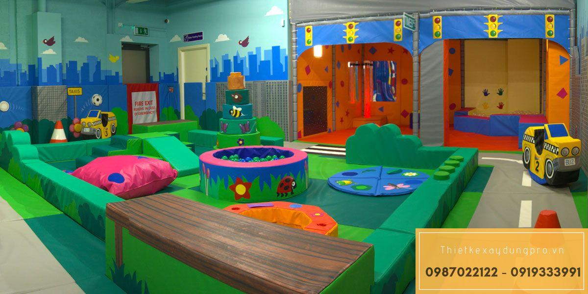 thiết kế khu vui chơi trẻ em trong nhà