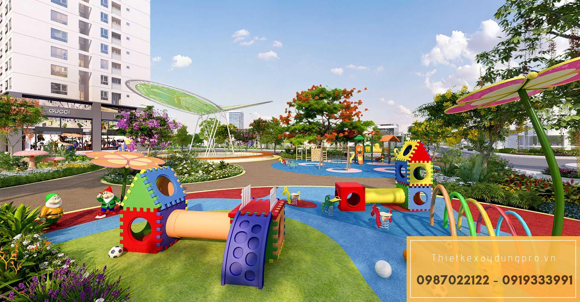 Thiết kế khu vui chơi trẻ em tại Thái Bình